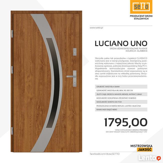 LUCIANO UNO CLASSICO drzwi zewnętrzne stalowe SETTO