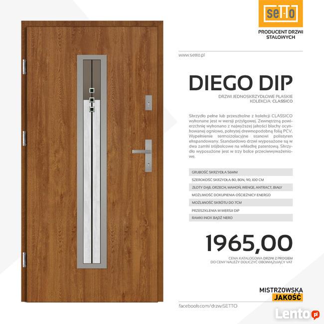 DIEGO DIP CLASSICO drzwi zewnętrzne stalowe SETTO