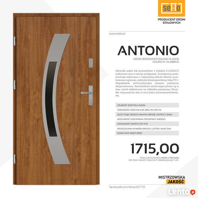 ANTONIO CLASSICO drzwi zewnętrzne stalowe SETTO