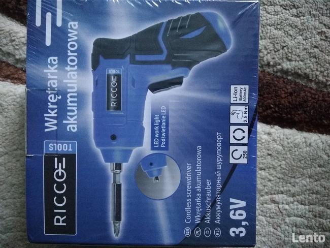 Sprzedam nową wkrętarkę akumulatorową Ricco 3,6 V
