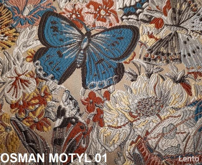 Osman motyle tkanina obiciowa, meblowa, żakard
