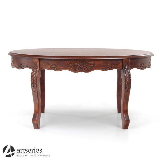 Stylowy stolik; stół ława kolor dąb