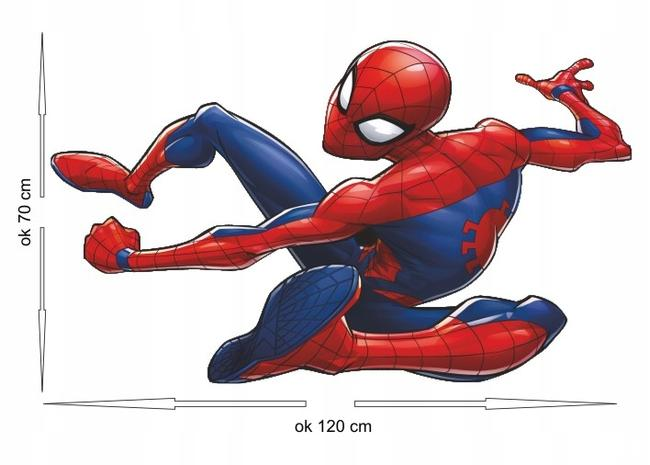 Spiderman naklejka ok 120 cm x 70 cm