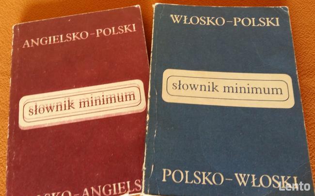 Słownik polsko-angielski lub polsko-włoski.Mini format 14x10