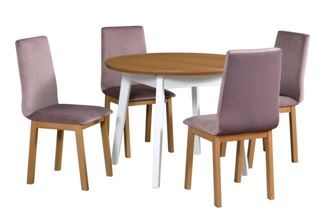 Stół Oslo 4 + 4 Krzesła Hugo 5