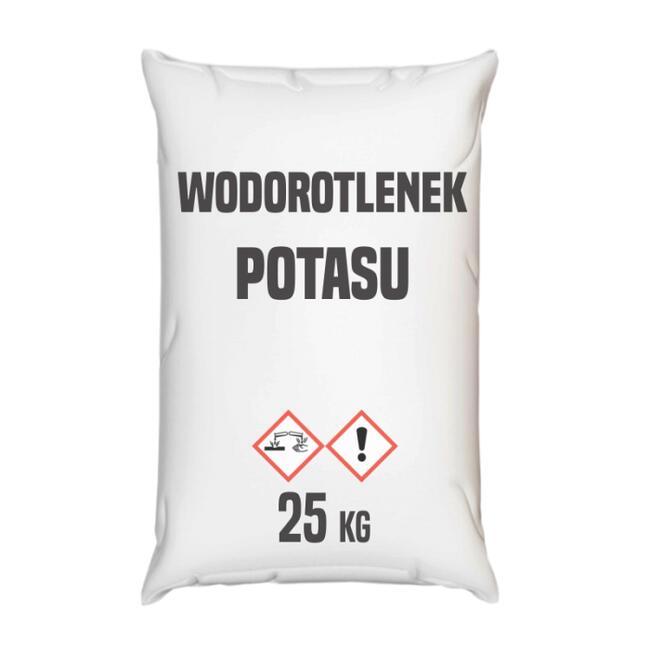 Wodorotlenek potasu, płatki – 25 – 1000 kg – Wysyłka kurier
