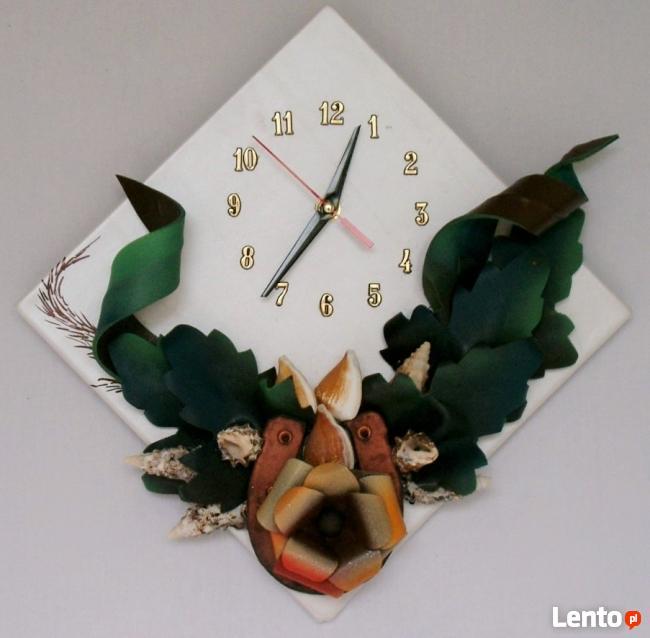 Nowoczesny zegar ze skóry Cichy-płynący