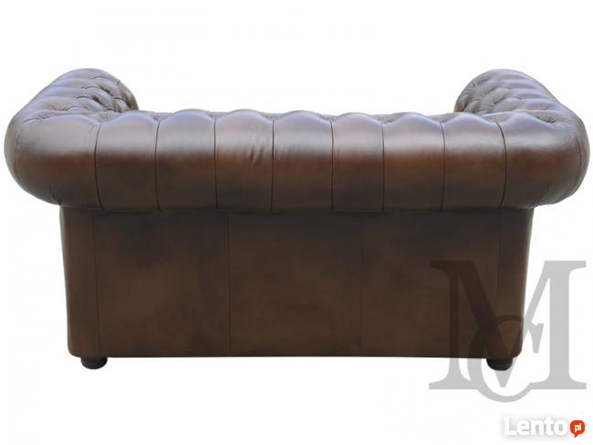Sofa Classic Chesterfield 2-osobowa - 100% skóra naturalna