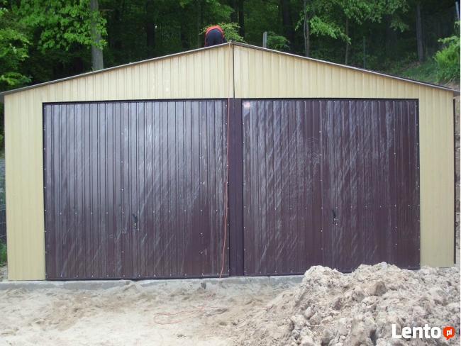 Garaż Blaszany 7x8 z dachem dwuspadowym