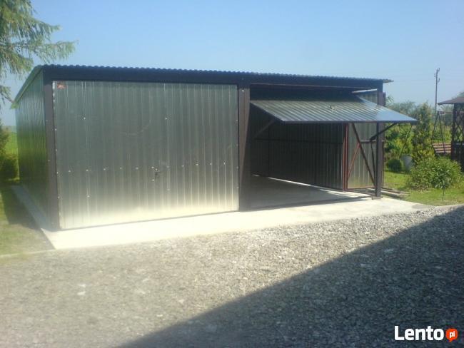 Garaż Blaszany 6x6 Bramy PRODUCENT