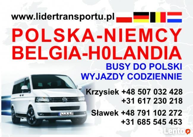 Busy do Niemiec , Belgi i Holandii. Przewóz osób i paczek.
