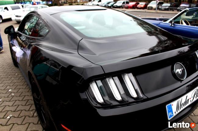 Czarny Ford Mustang do wynajęcia do Ślubu!