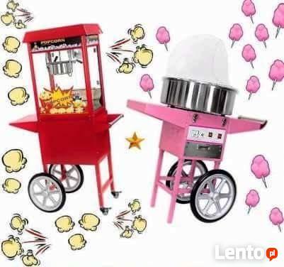 popcorn i wata cukrowa na imprezy, wynajem - Atrakcje