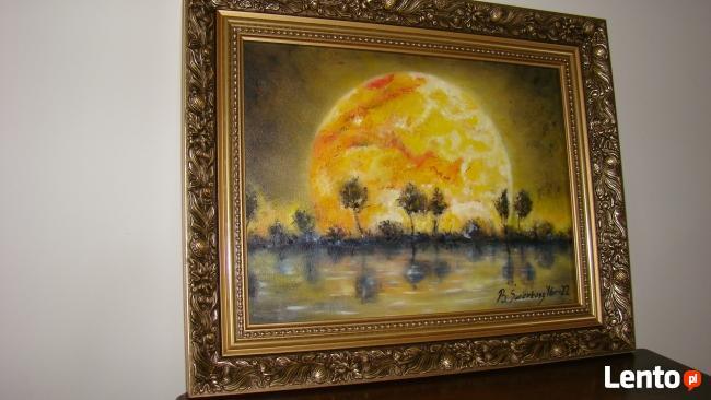Obraz olejny Księżyc w pełni.