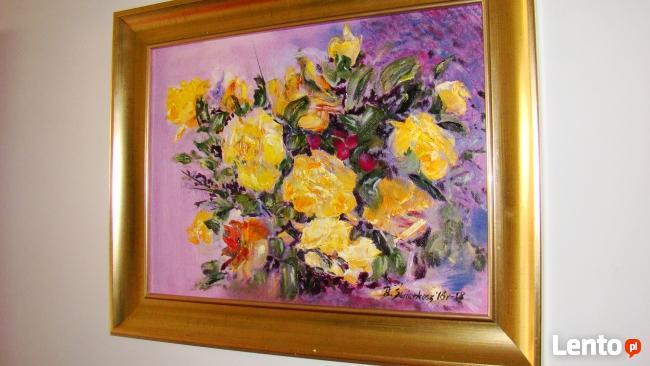 Obraz olejny Żółte róże