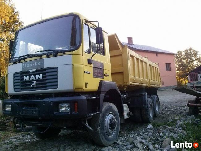 Usługi samochodem ciężarowym