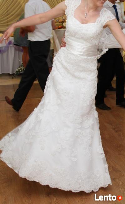 SPRZEDAM koronkową suknię ślubną+ WELON GRATIS!!!