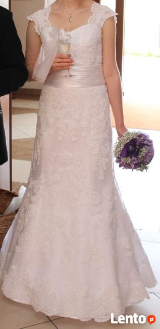KORONKOWA suknia ślubna! Welon GRATIS!