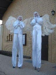 Anioły na szczudłach ślub pierwszy taniec Mazowieckie Łódź