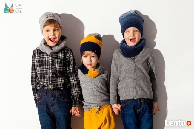 Czapki dla dzieci dla chłopca na jesień zimę Broel 37-57