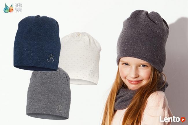 Czapki dla dzieci dziewczynki na jesień zimę Broel 37-57