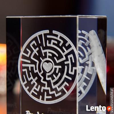 Kryształ 3D Labirynt Miłości na prezent dla ukochanej!