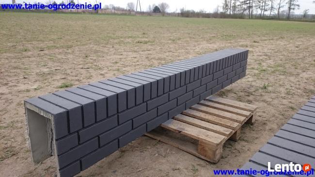 Ogrodzenia betonowe imitacja ogrodzeń klinkierowych