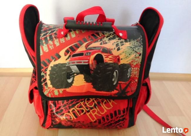 Plecak Tornister szkolny Semi Lane LEKKIwzór Monster truck