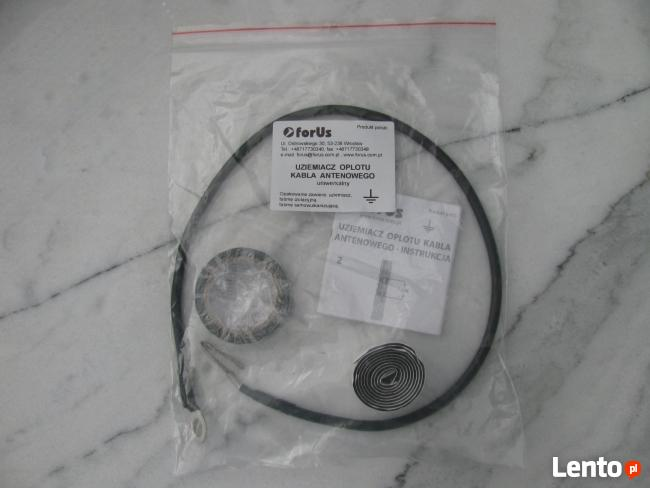 Uziemiacz oplotu kabla antenowego - grounding