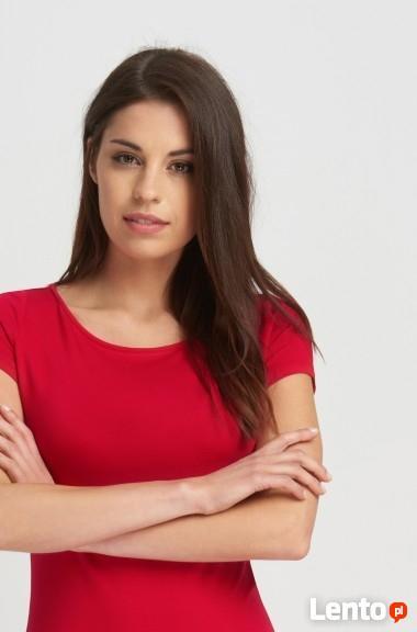 Czerwony t-shirt Orsay