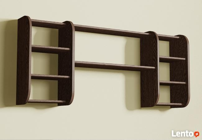 Półka Detalion wisząca na ścianę dowolne warianty ułożenia