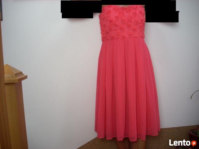 AMISU sukienka Kwiatki impreza wesele NOWA 40 L