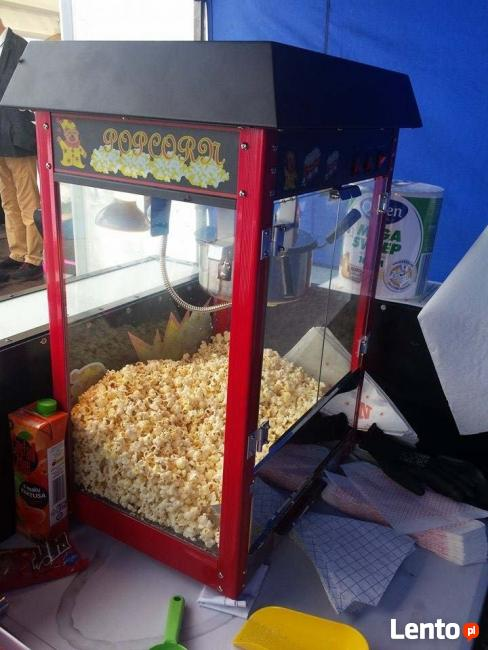 Wata cukrowa, Popcorn, Fontanna Czekoladowa.