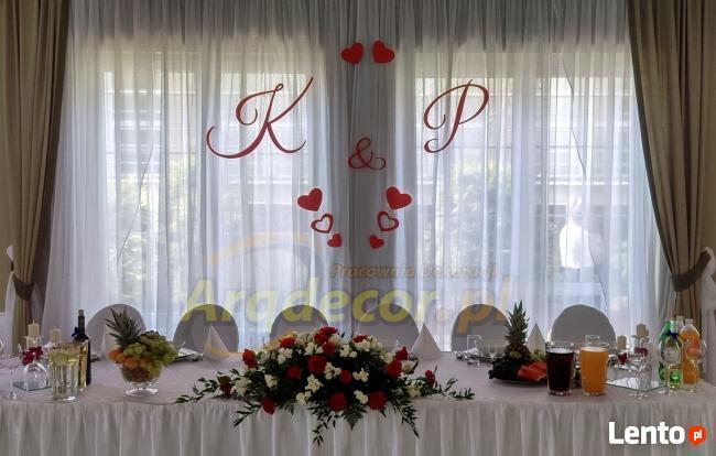 Inicjały Na ściankę Młodych Dekoracje ślubne Weselne Dębna