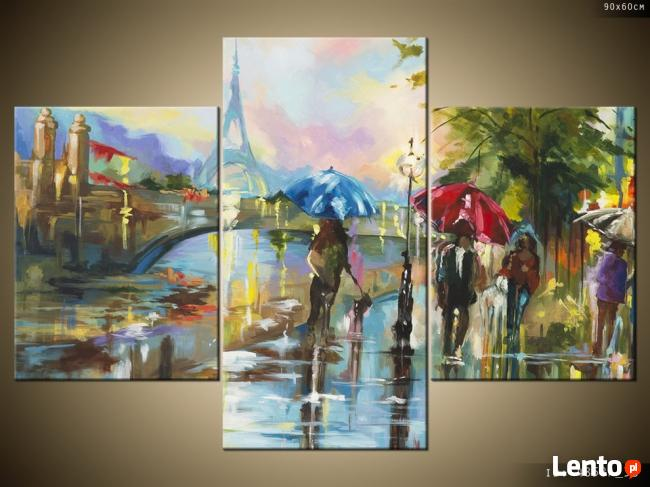 Paryż w deszczu, Obrazy na płótnie, Pomysł na prezent,Canvas
