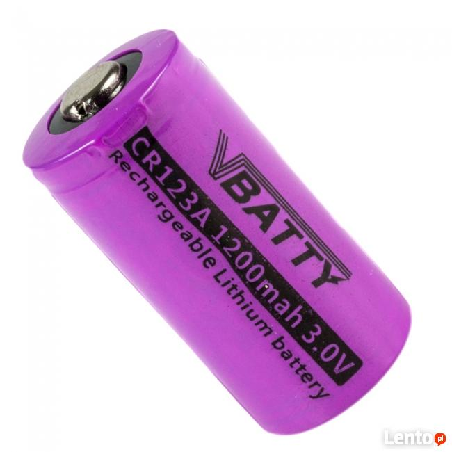 Akumulatorek CR 123 3.0V 1200 mAh RCR 16340 CR17345 Lithium