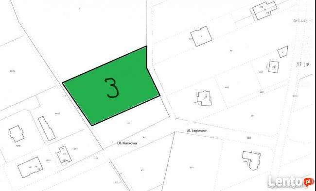 Działka budowlana 3400 m2 Grodzisk Mazowiecki Piaskowa