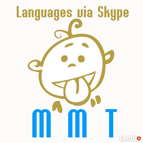 Kurs nauka języka angielskiego, niemieckiego przez Skype