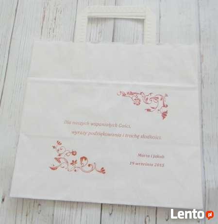 Reklamówki/Torby papierowe z nadrukiem weselnym