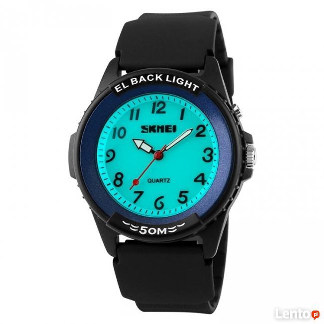Zegarek dla kobiety lub dziecka czytelne cyfry podświetlenie