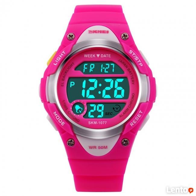 Mały damski dziecięcy zegarek 3 żywe kolory WR50 jeden czas