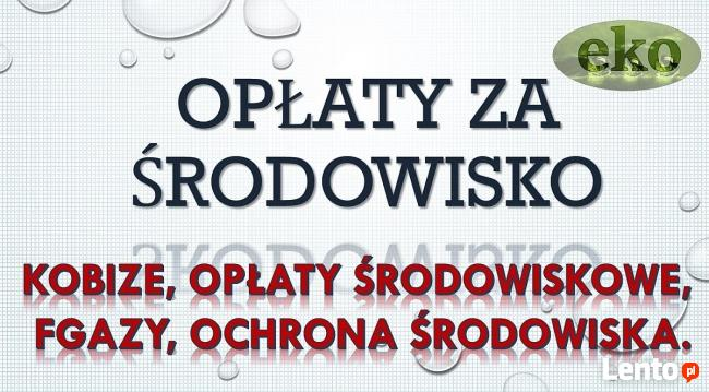 Opłaty środowiskowe, tel. 502-032-782. Gdańsk, wykaz opłat