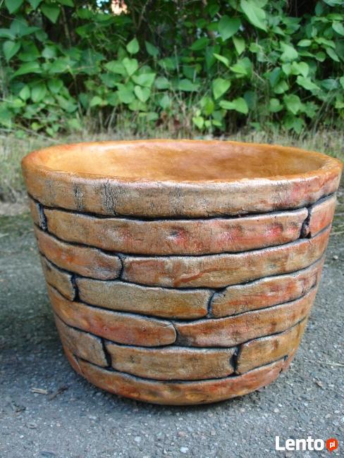 Ceramiczna donica ogrodowa 40x40 cm. mrozoodporna