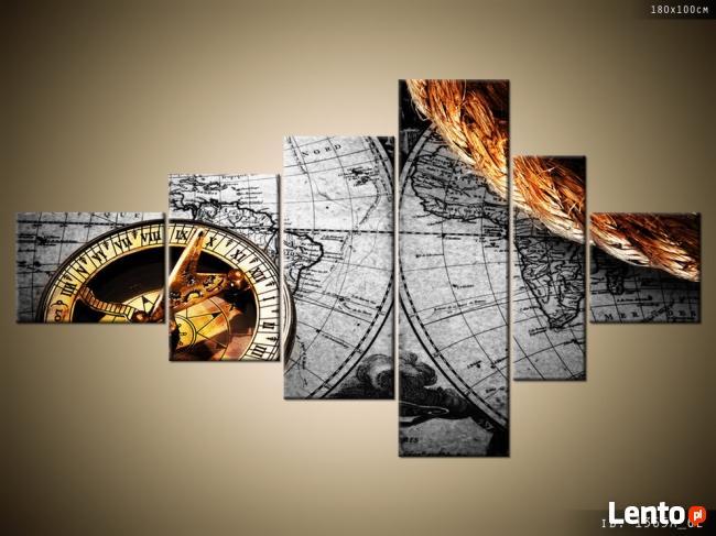 Zabytkowa mapa, OBRAZY, Canvas, obraz na płótnie, prezent