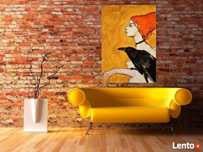 """Akryl na płótnie - obraz """"ZWIERZĘ MOCY"""" artystki A. Laube"""