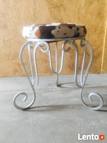 Taboret - stolek robiony na zamowienie - kute