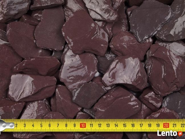 Grys Kamień Ozdobny do Ogrodu PLUM SLATE 30-60mm 25KG