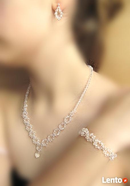Biżuteria Ślubna piękny komplet