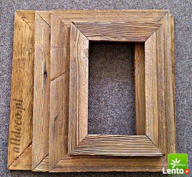 Ramy lusterm ze starego drewna