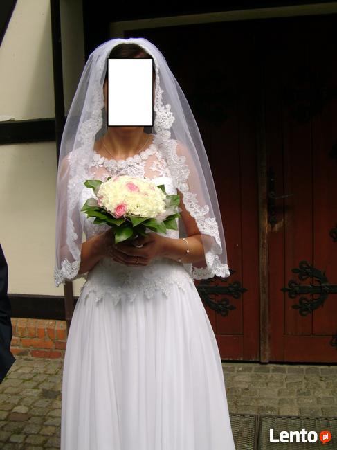sprzedam suknie ślubna z czerwca 2018 roku wraz z welonem